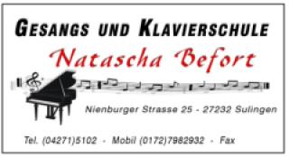 Gesangs - und Klavierschule Natascha Befort